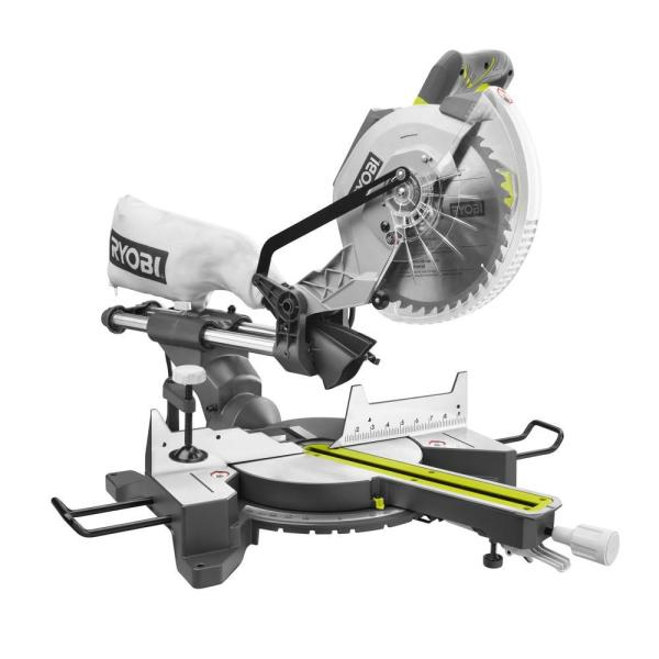 15 Amp 10 in. Sliding Compound Miter Saw with LED