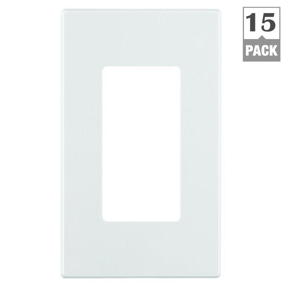 Leviton Decora Plus 1 Gang Screwless Snap On Decora Wall