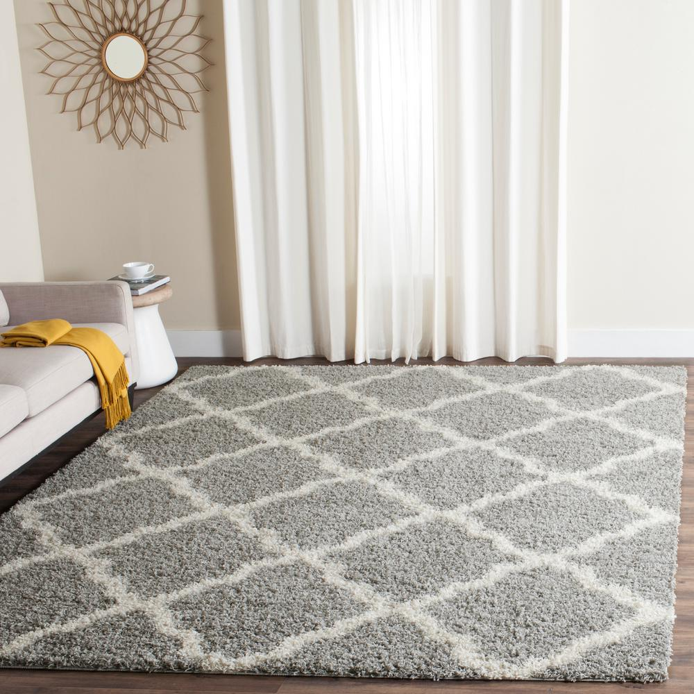Safavieh Dallas Shag Gray/Ivory 5 Ft. 1 In. X 7 Ft. 6 In. Area Rug SGD257G 5    The Home Depot
