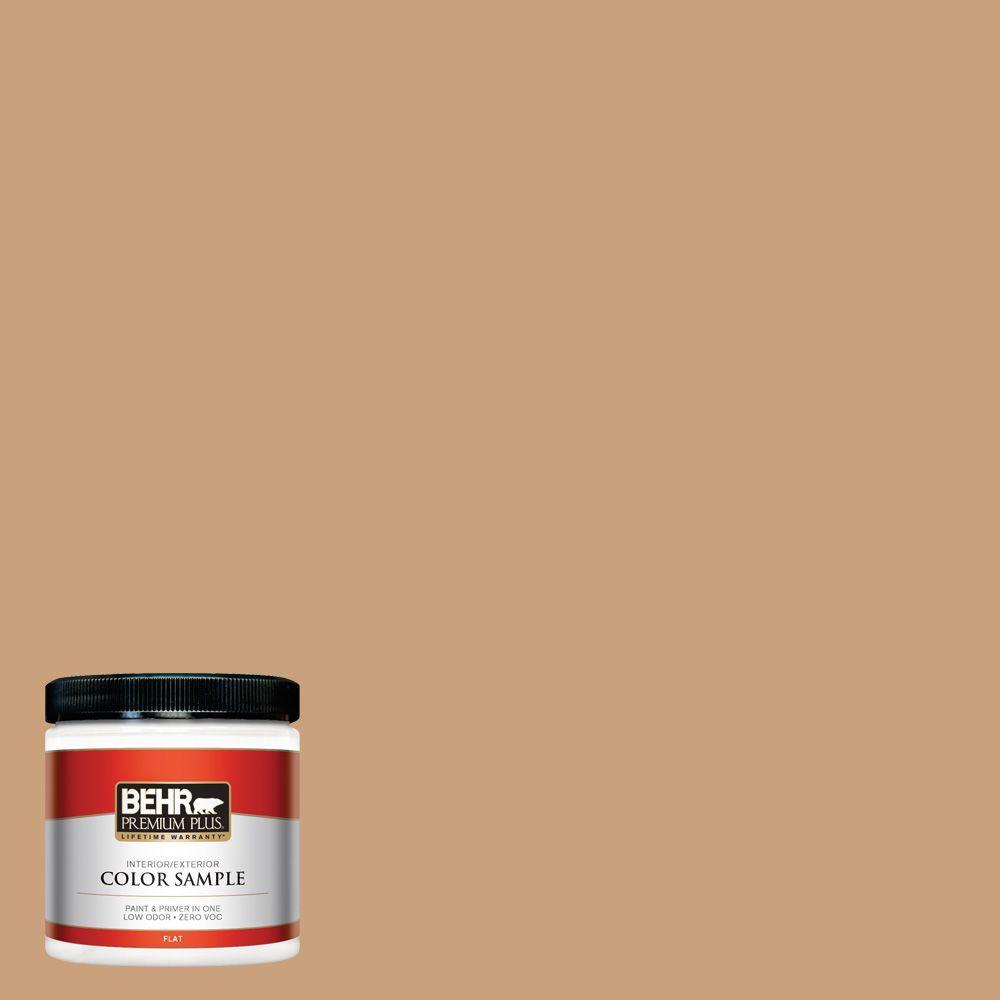 BEHR Premium Plus 8 oz. #270F-4 Peanut Butter Interior/Exterior Paint Sample