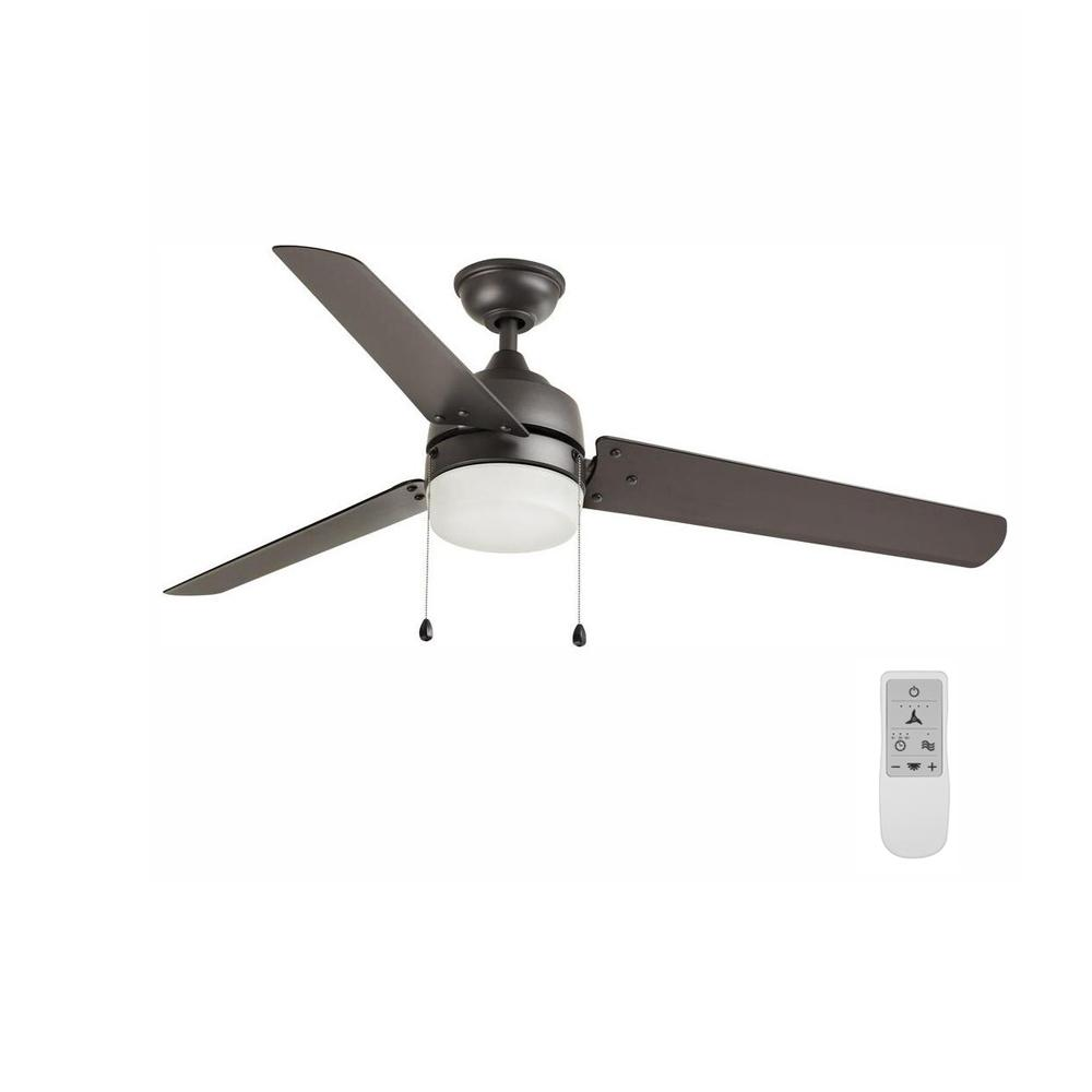 Home Decorators Collection Carrington 60 in. LED Natural Iron Ceiling Fan with Light and Remote Control works with Google and Alexa