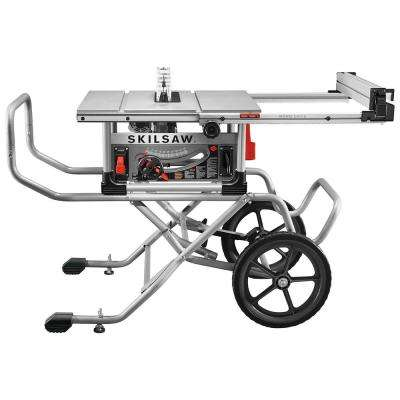 15 Amp 10 in. Heavy-Duty Worm Drive Table Saw Corded Electric with Stand SKILSAW Blade