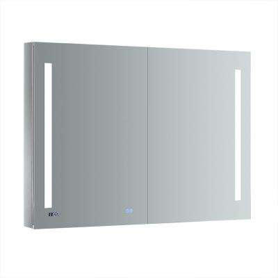 Tiempo 48 in. W x 36 in. H Recessed or Surface Mount Medicine Cabinet with LED Lighting and Mirror Defogger