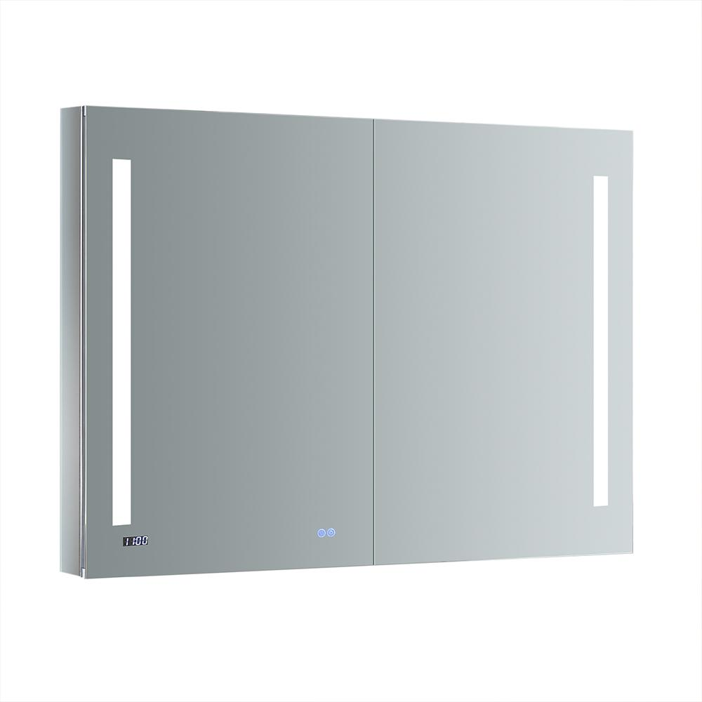 Fresca Tiempo 48 in. W x 36 in. H Recessed or Surface Mount Medicine Cabinet with LED Lighting and Mirror Defogger