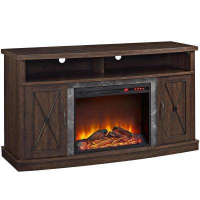 Yucca Espresso 60 in. TV Stand with Electric Fireplace