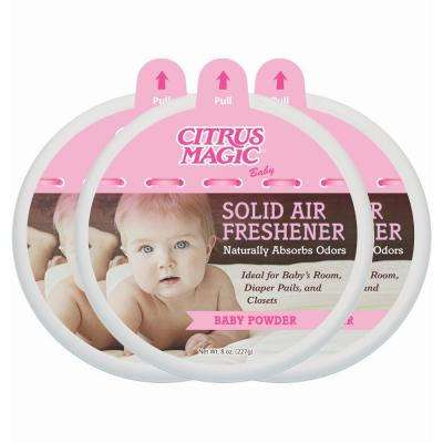 8 oz. Baby Powder Odor Absorbing Solid Air Freshener (3-Pack)