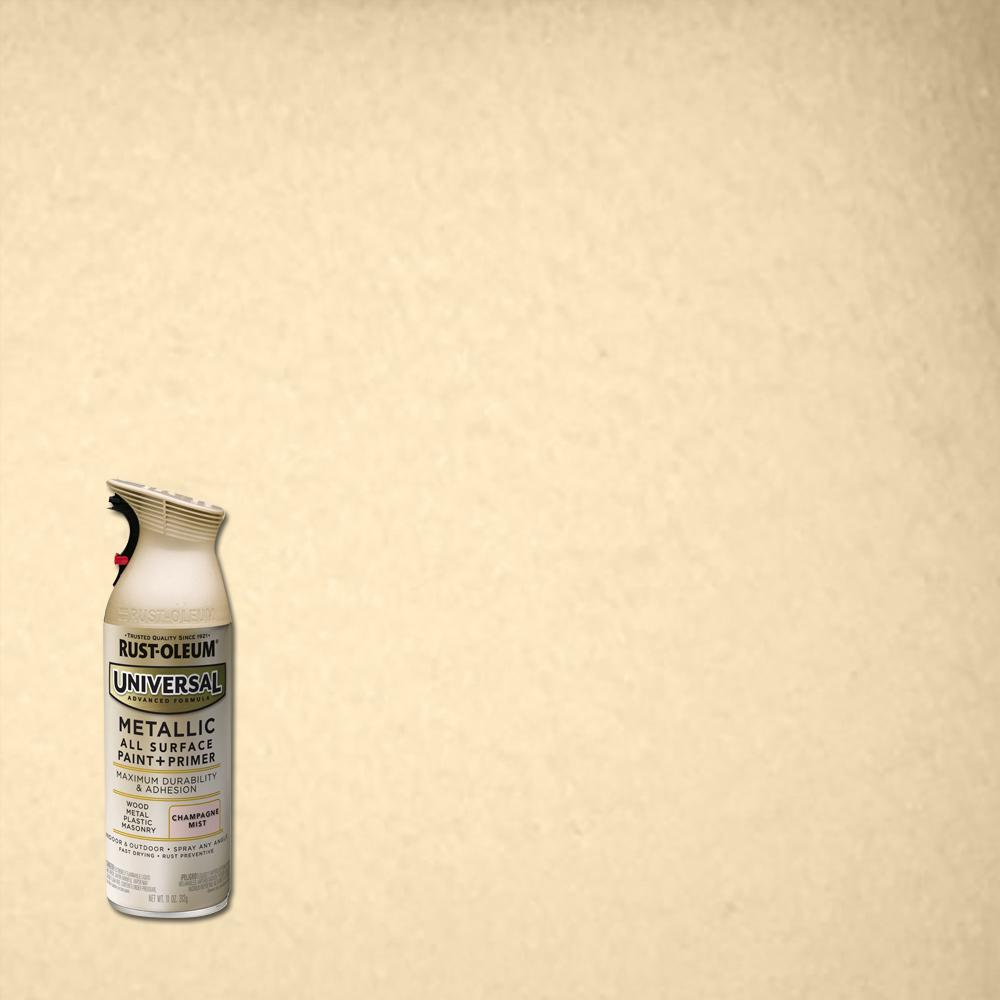 Rust-Oleum Universal 11 oz. All Surface Metallic Champagne Mist Spray Paint and Primer in One