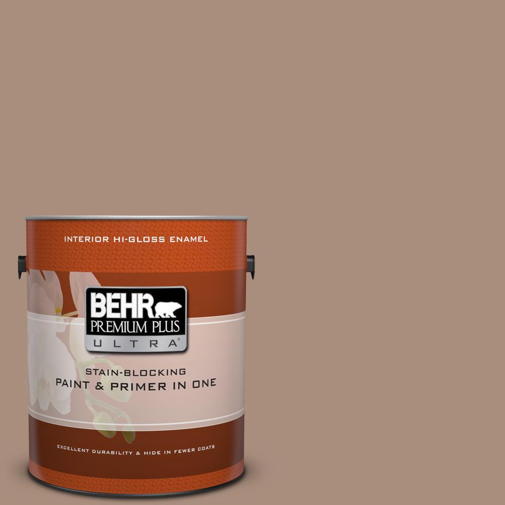 1 gal. #BNC-13 Cozy Cocoa Hi-Gloss Enamel Interior Paint