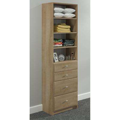 84 in. H x 24 in. W Nutmeg Drawer and Shelving Tower Kit