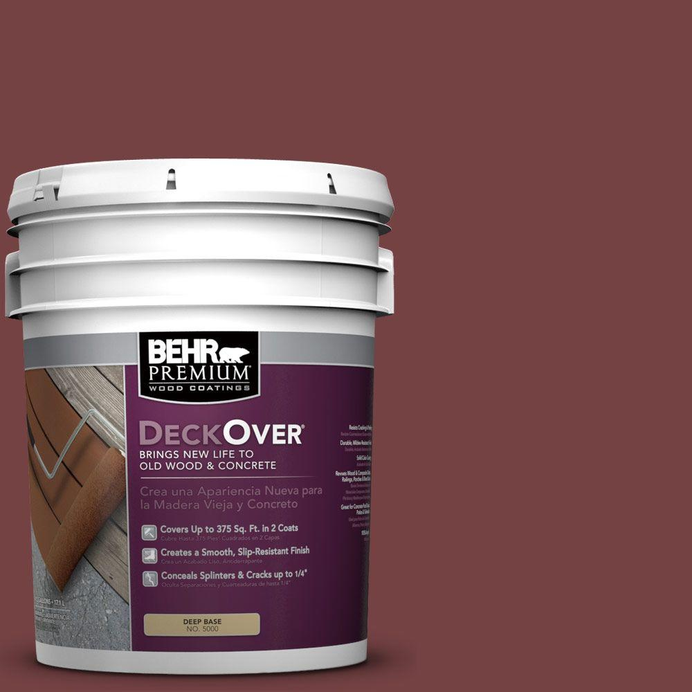 BEHR Premium DeckOver 5 gal. #PFC-04 Tile Red Wood and Concrete Coating