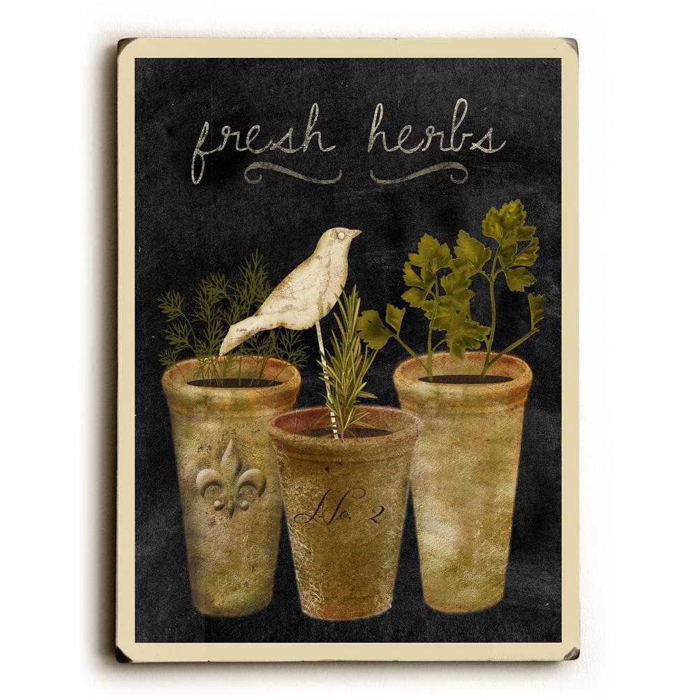 9 In X 12 In Fresh Herbs By Beth Albert Printed Wall Art