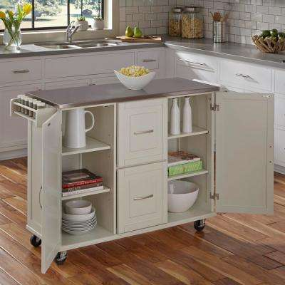 Patriot White Kitchen Cart