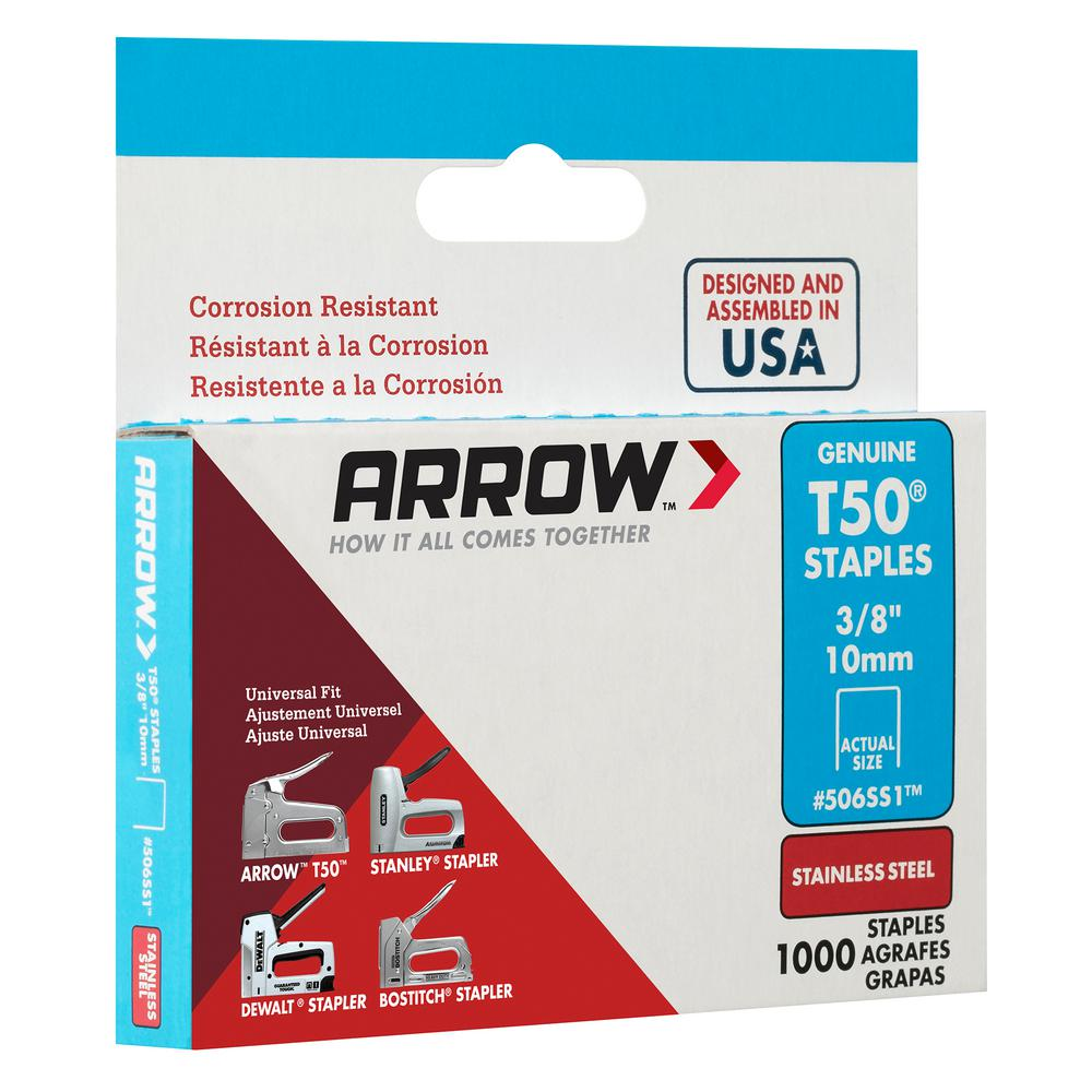 """HEAVY DUTY STAPLES PACK OF 1250 x GENUINE ARROW T50 12mm 1//2/"""" UPHOLSTERY"""