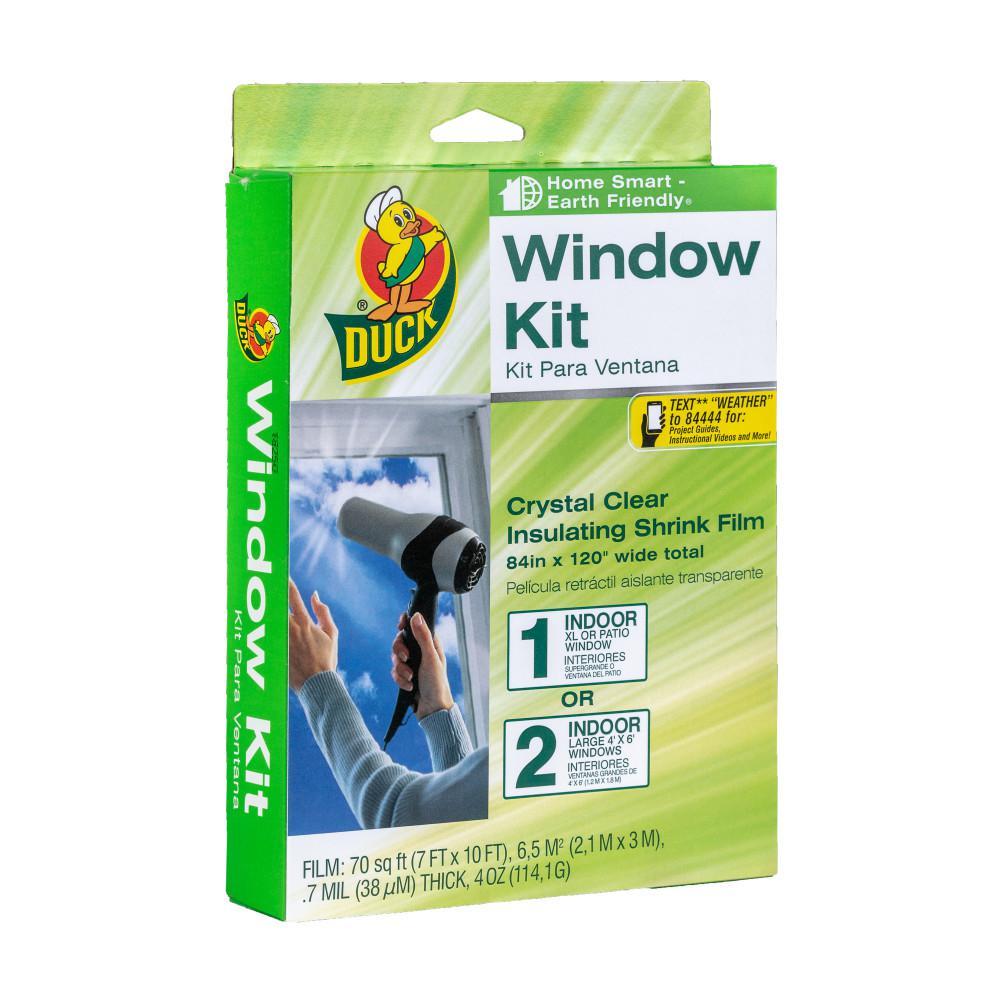 84 in. x 120 in. Crystal Clear XL Patio Window Kit Shrink Film