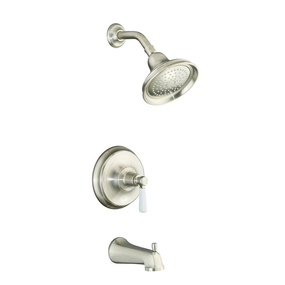 KOHLER Bancroft Pressure-Balancing Bath and Shower Faucet Trim in Vibrant Brushed Nickel (Valve not included)