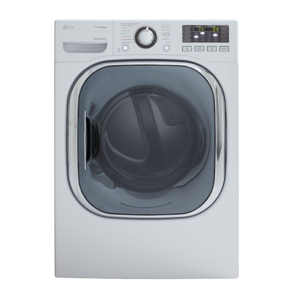 LG Electronics 7.4 cu. ft. Electric Dryer with Steam in White