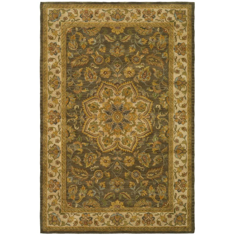 Heritage Green/Taupe 6 ft. x 9 ft. Area Rug