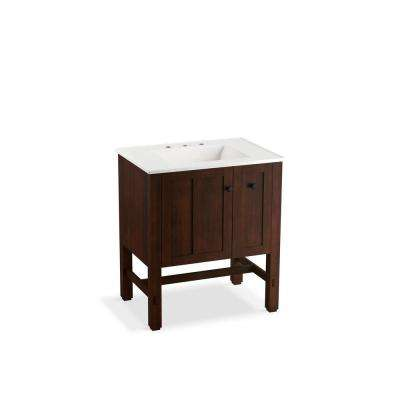 Tresham 30 in. W x 21-7/8 in. D Vanity in Woodland with Vitreous China Vanity Top in White with White Basin