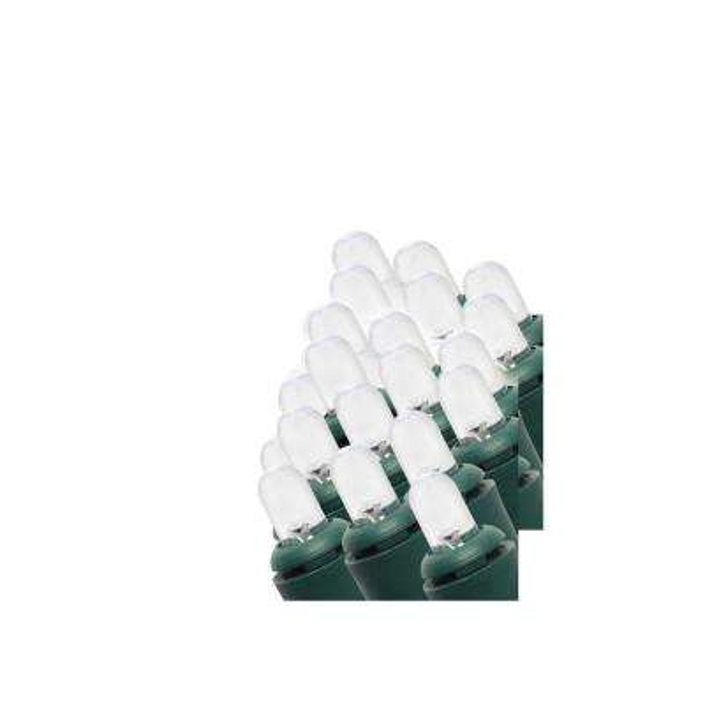 24 ft. 100-Light Cool White LED Dome Light String