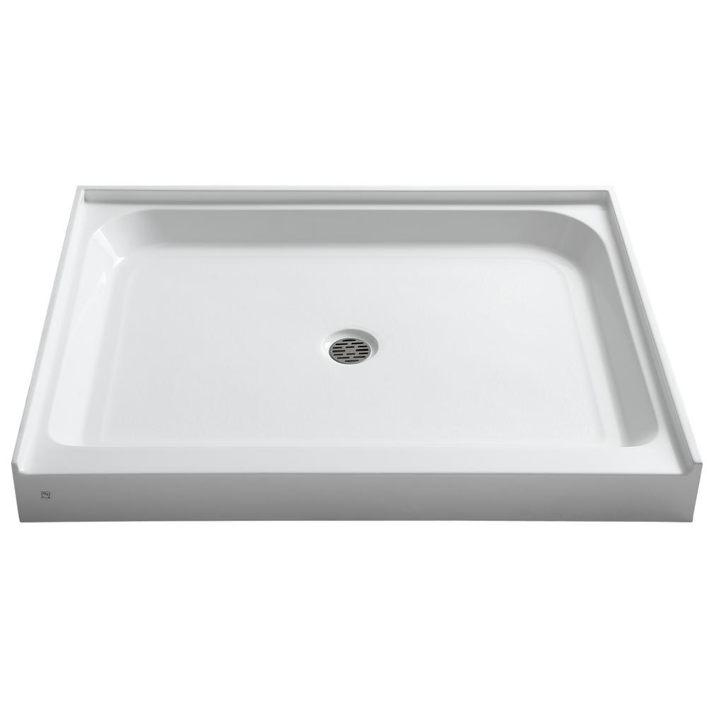 Reach 36 in. x 48 in. Single Threshold Shower Base in