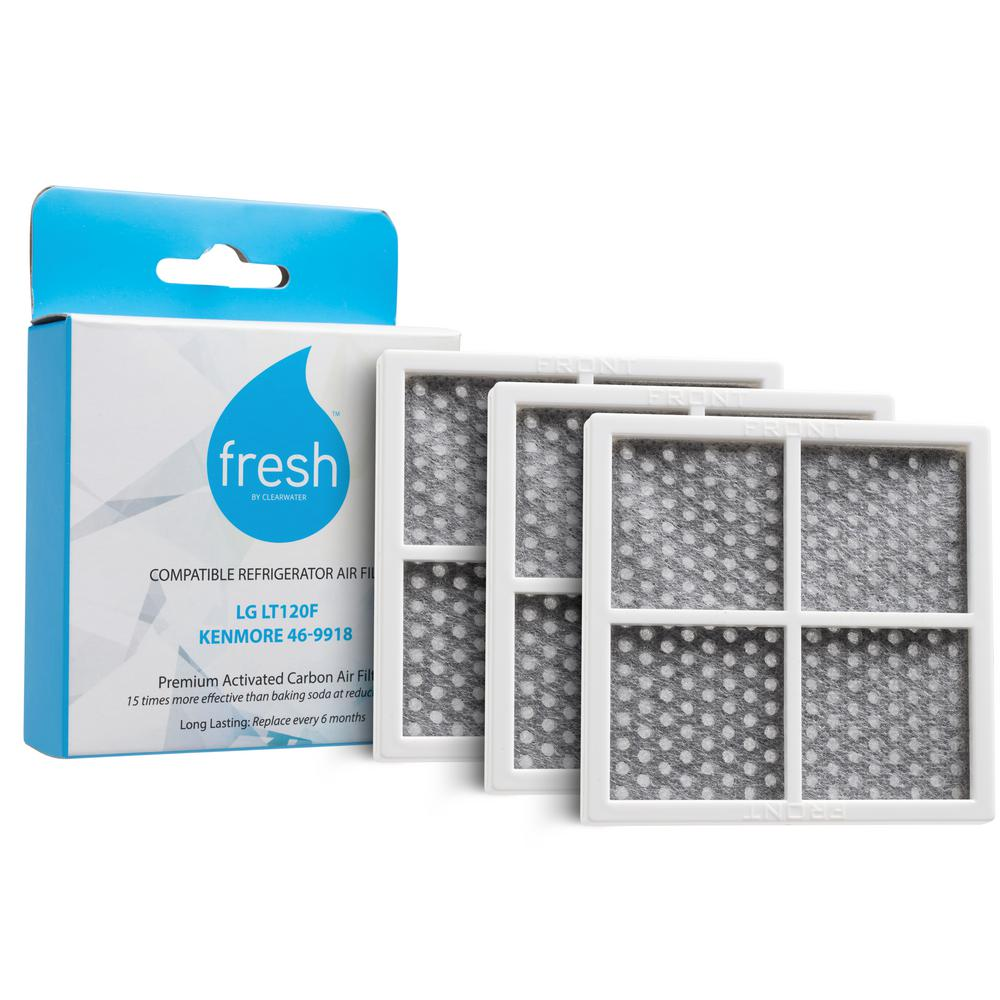 Clearwater Filters Fresh Replacement Refrigerator Air Filter for LG LT120F Kenmore 469918 (3-Pack)
