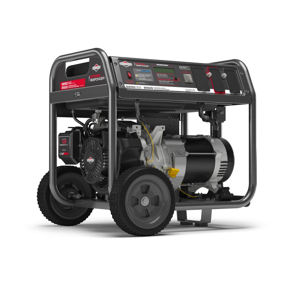 Briggs & Stratton Storm Responder 6,250-Watt Gasoline Powered Portable Generator with CO Guard