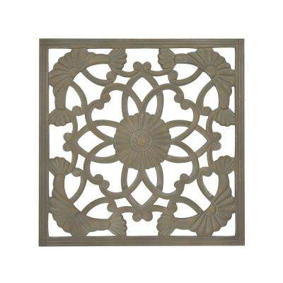 Jayda Grey Square Wooden Medallion
