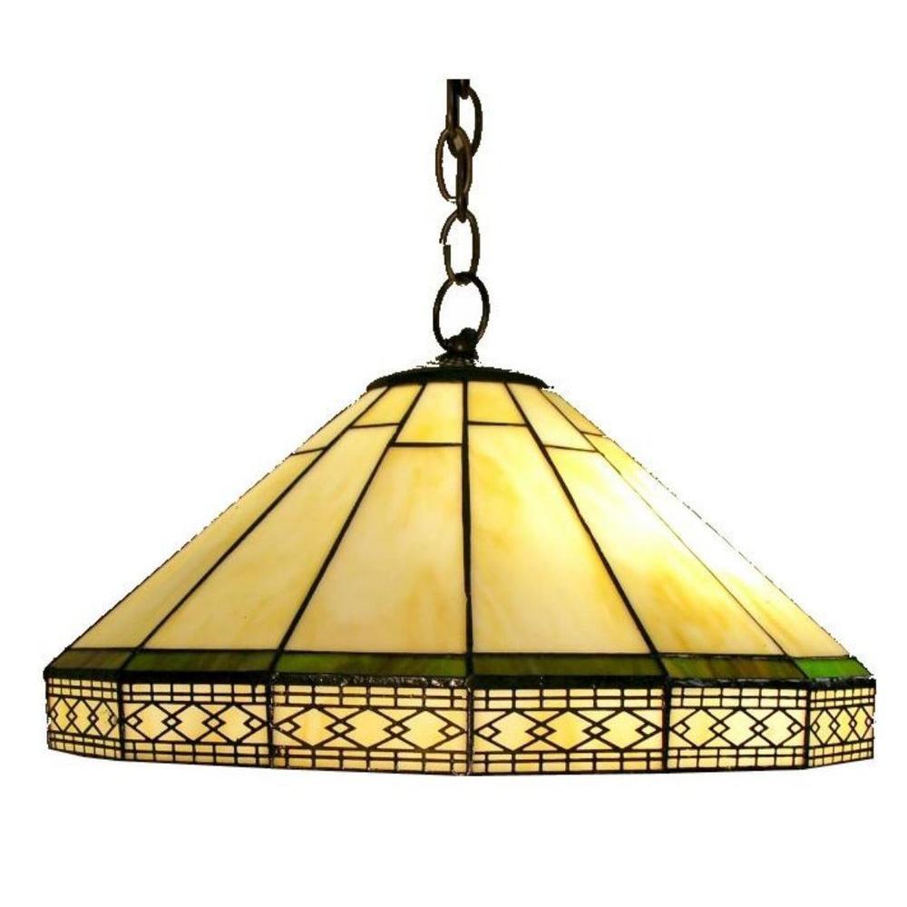 Warehouse of Tiffany Roman 2-Light Brown Hanging Pendant
