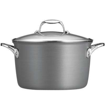 Gourmet Hard Anodized 8 Qt. Aluminum Stock Pot with Lid