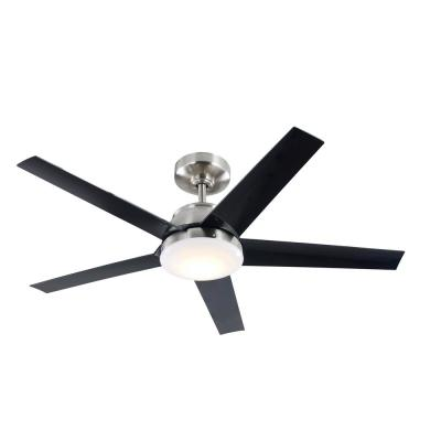 Patomo 52 in. Integrated LED Indoor Brushed Nickel DC Ceiling Fan with Light Kit and Remote Control