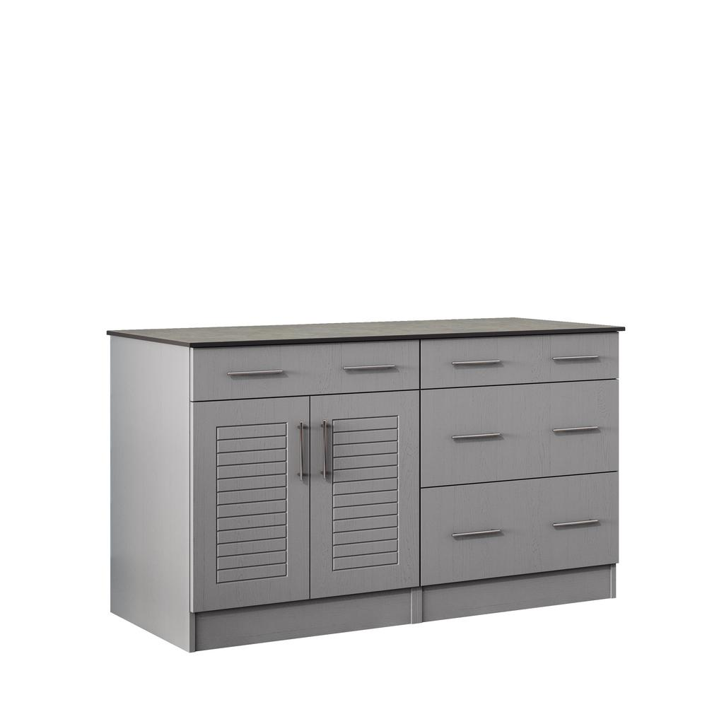 Key West 59.5 in. Outdoor Cabinets with Countertop 2-Door and 2-Drawer