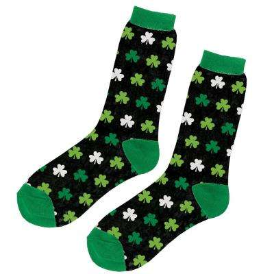 Fancy Shamrock St. Patrick's Day Crew Socks (2-Count, 4-Pack)