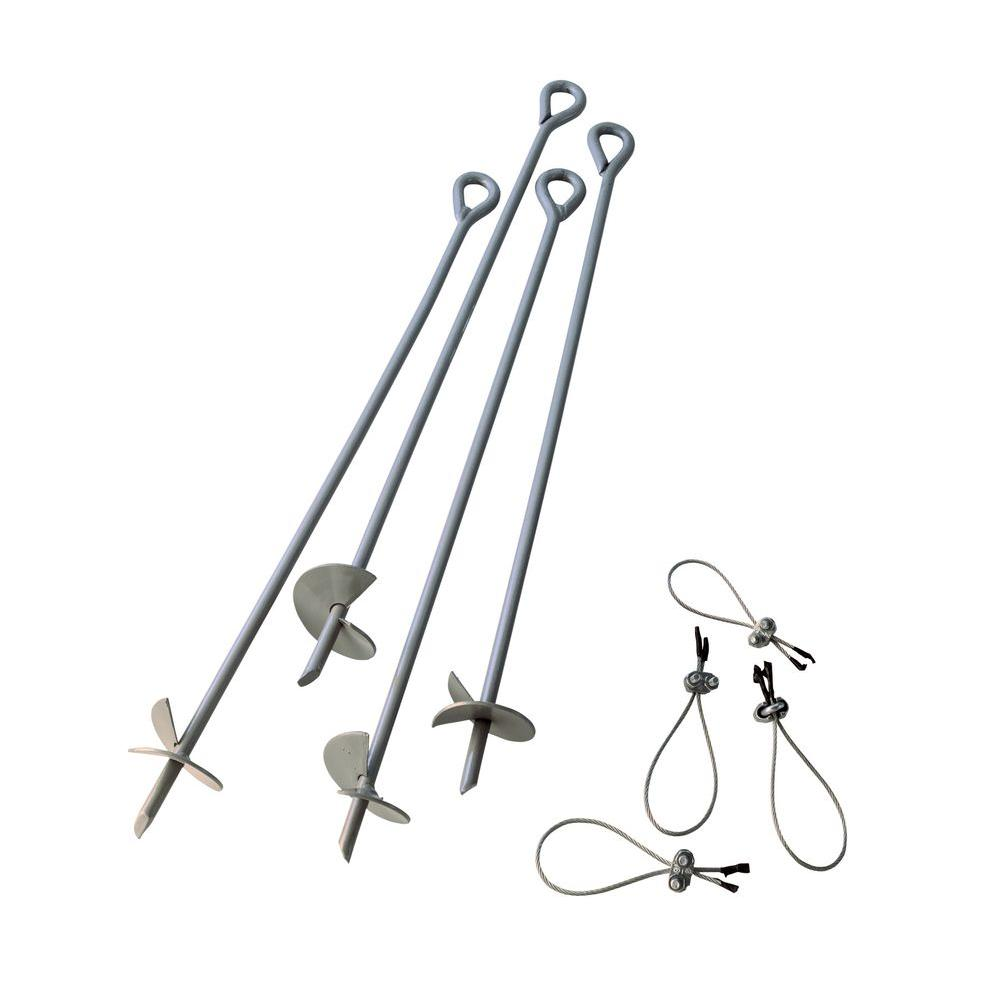 30 in. Earth Anchors Set (4-Piece)