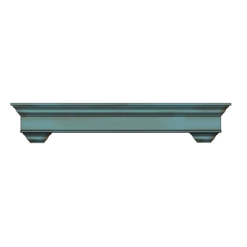 Bayview 5 ft. Wood with Sea Foam Cap-Shelf Mantel