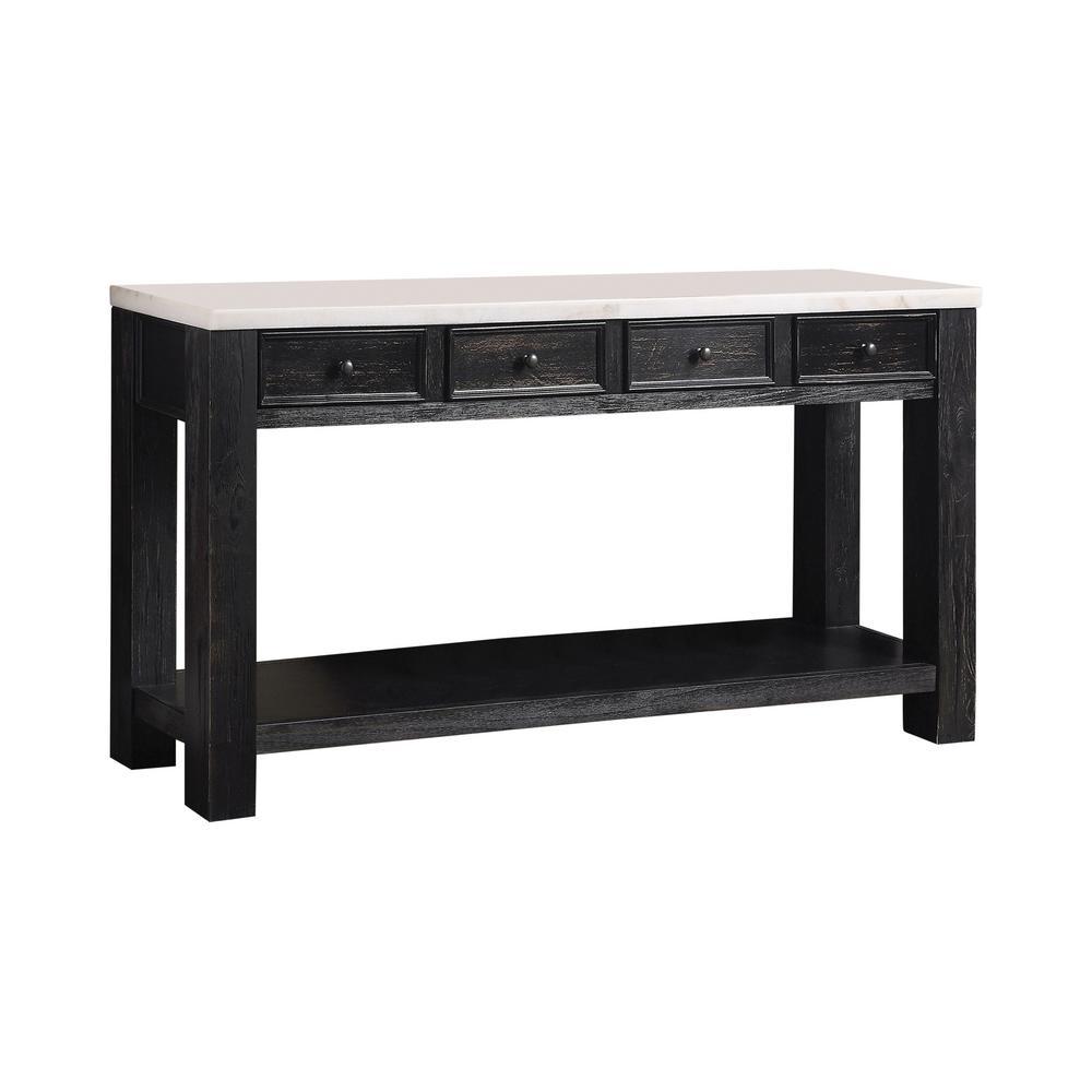 Surprising Furniture Of America Dashneil White And Antique Black Sofa Alphanode Cool Chair Designs And Ideas Alphanodeonline