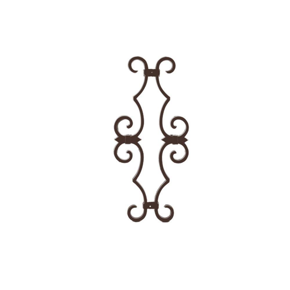 Bronze Aluminum Fence Estate Scroll