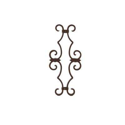Bronze Aluminum Fence Estate Scroll