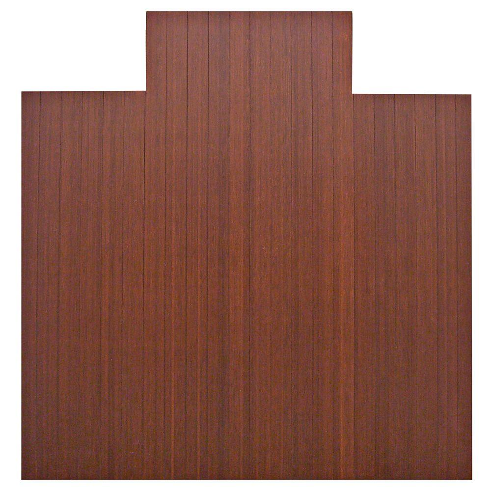 Anji Mountain Standard 5 Mm Dark Brown Mahogany 55 In X 57 In