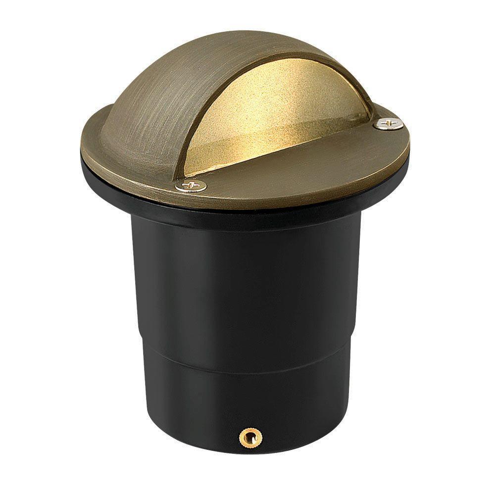 Low-Voltage 20-Watt Matte Bronze Hardy Island Shielded Top Cast Brass Well Light