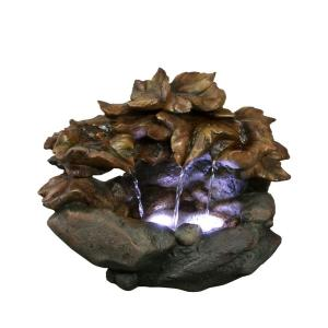 Alpine 10 inch Cascading Leaf Table Top Fountain by Alpine