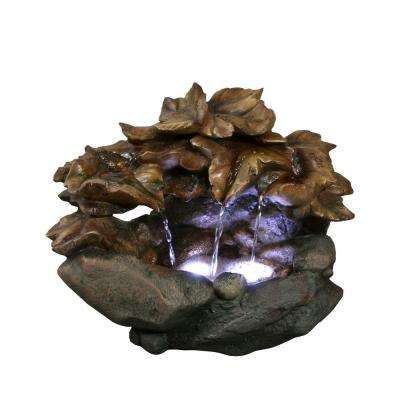 10 in. Cascading Leaf Table Top Fountain