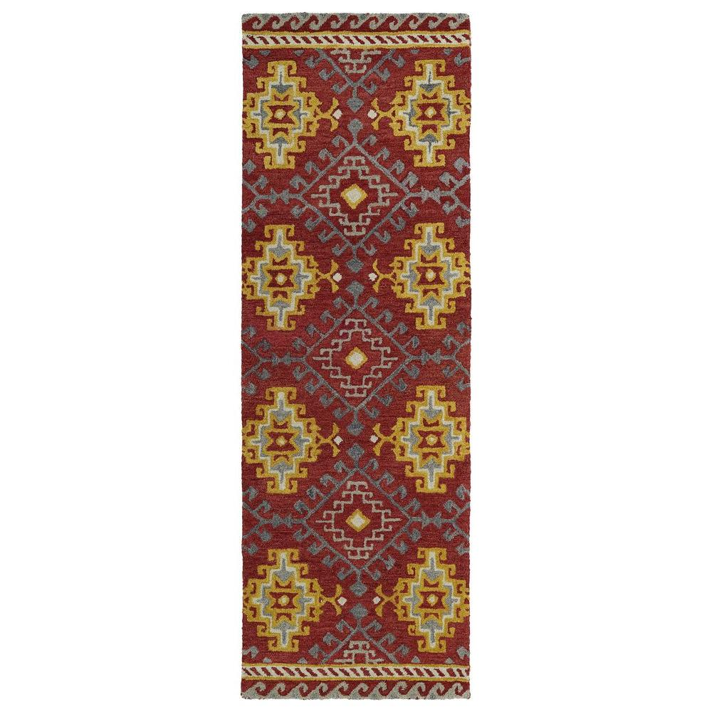 Global Inspiration Red 2 ft. 6 in. x 8 ft. Runner