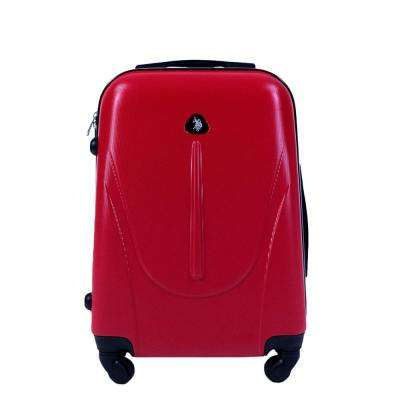 U.S Polo Assn. 21 in. Red Carry-On Luggage Spinner