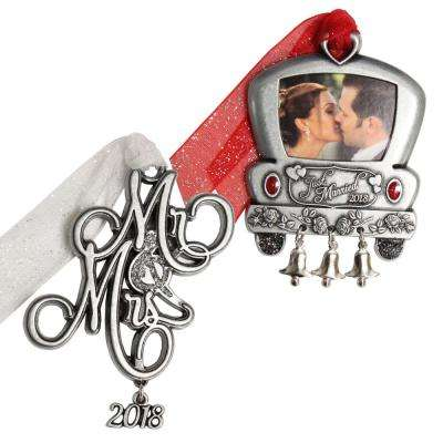 Wedding Car and Mr. and Mrs. Ornament Set