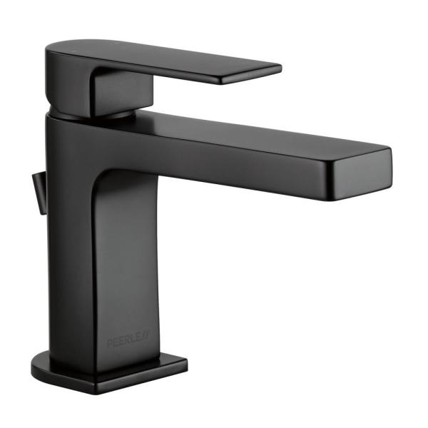 Xander Single Hole Single-Handle Bathroom Faucet with Metal Pop-Up Assembly in Matte Black