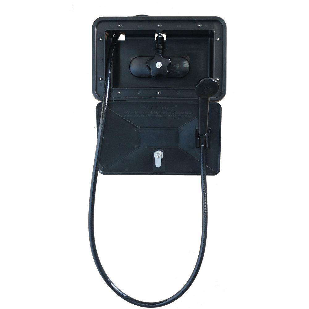 Empire Brass RV Black Single Lever Exterior Shower Box Kit