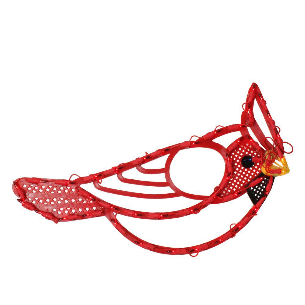 "20"" Lighted Red Cardinal Bird Christmas Window Silhouette"