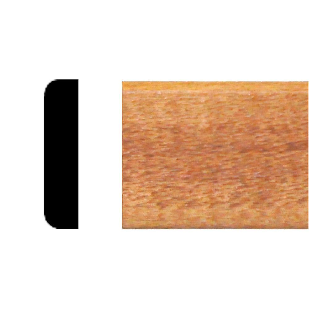 null 3/8 in. x 1-1/4 in. x 8 ft. Hardwood Stained Cherry Mullion Stop Moulding
