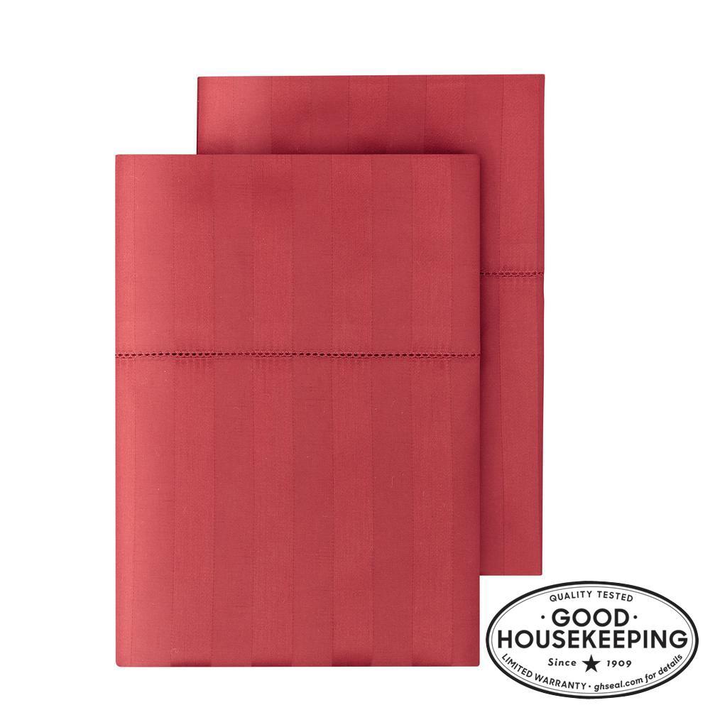 500 Thread Count Egyptian Cotton Sateen King Pillowcase in Mason Damask (Set of 2)