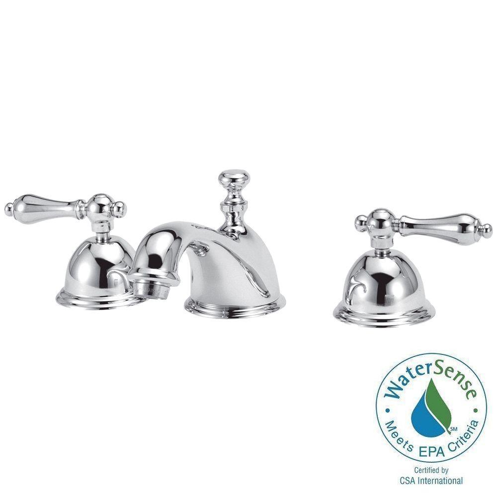 Bradsford 8 in. Widespread 2-Handle Mid-Arc Bathroom Faucet in Satin Nickel